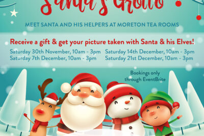 Santa's Grotto + Christmas Crafts & Frozen Trail!