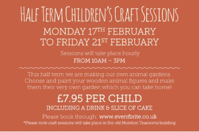 Half Term Children's Craft Sessions!