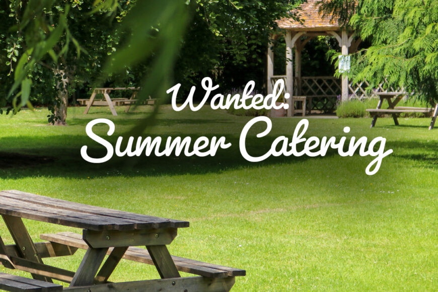 Summer Catering Wanted